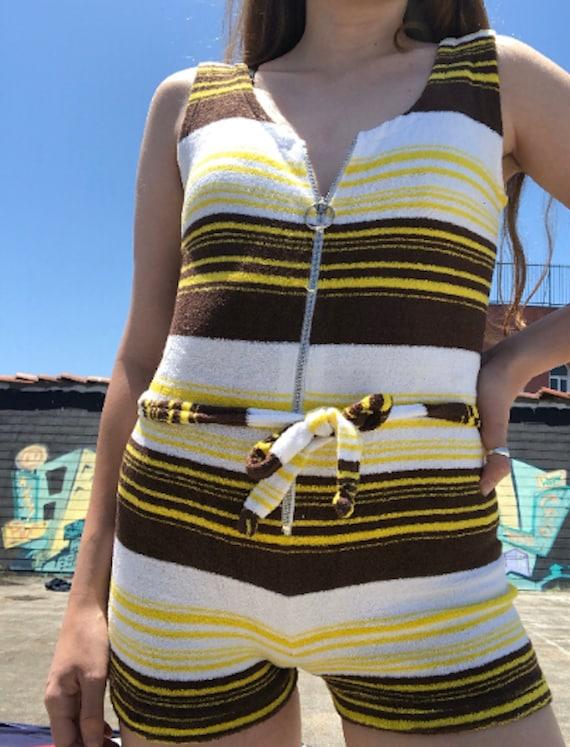 Vintage Deadstock Terry Clothing Zip Up Belted Jum