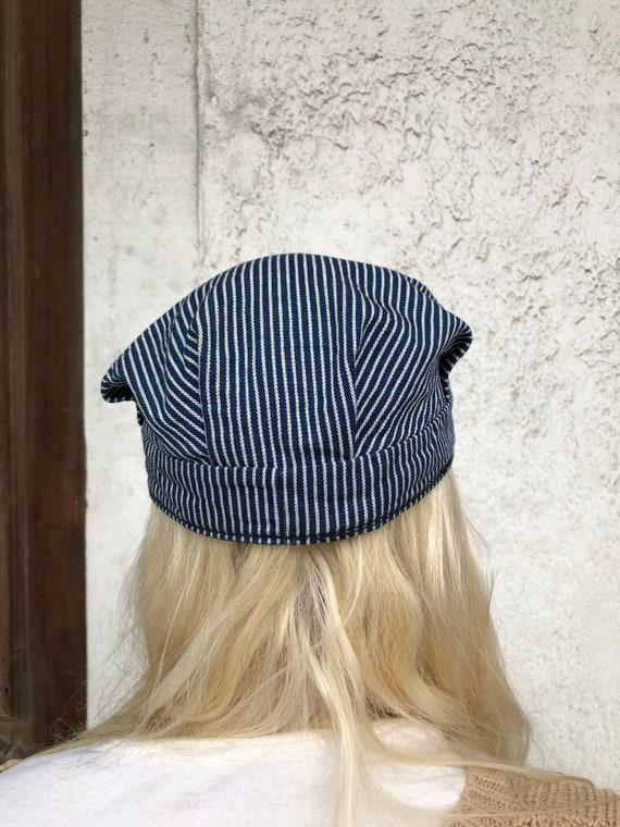 Vintage Cotton Twill Striped Cap - image 2