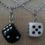 Dice Necklace - Customize yours! - Board Game Jewelry, Board Game Necklace, Dice Jewelry
