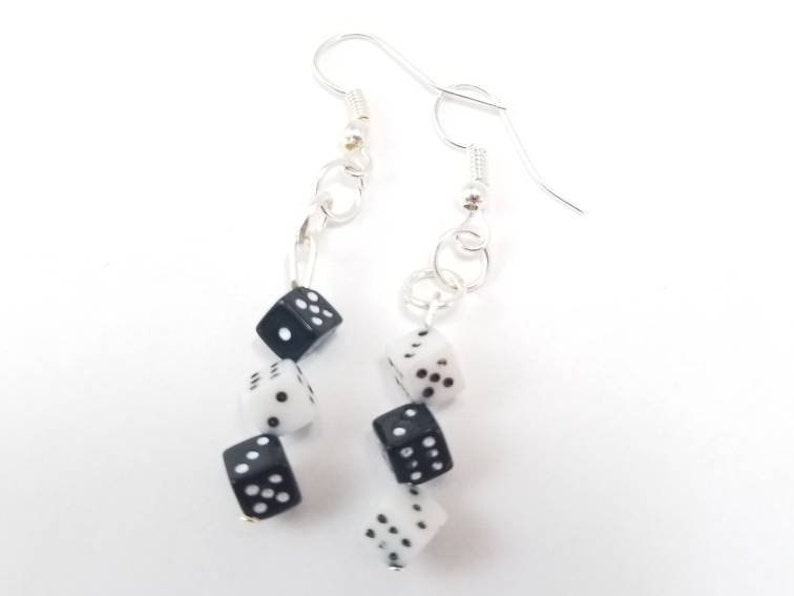 Mini Dice Earrings  Board Game Jewelry Dice Jewelry Board image 0