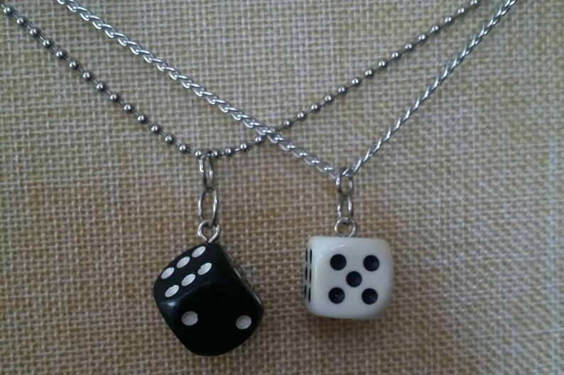 Dice Necklace  Customize yours  Board Game Jewelry Board image 0