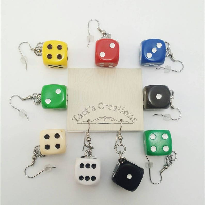 Dice Earrings  Nerdy Gifts Geeky gifts DND Geek Jewerly image 0