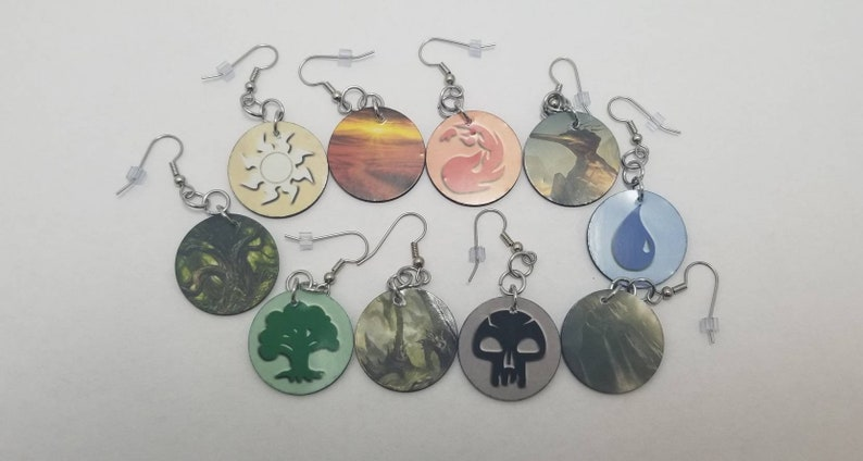 Magic The Gathering Earrings from Magic Cards  Friday Night image 0