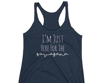 Yoga Tank, Yoga Tank Top, Yoga Tee, Yoga Top, Yoga Shirt, Savasana, Womens Workout Tank, Womens Workout Shirts, Womens Muscle Tank, Namaste