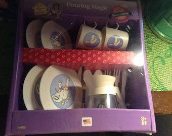 Vintage Pouring Magic Tootsie Toy Tea Set