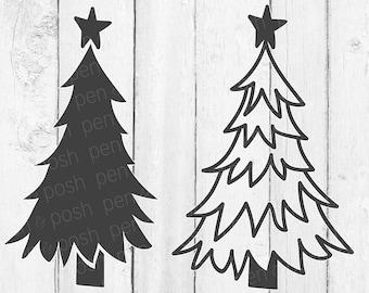 Christmas tree svg | Etsy