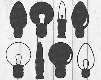 christmas light bulb svg light bulb art light bulb svg light bulb light bulb clipart christmas lights