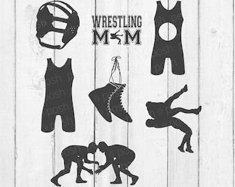 Wrestling SVG - Wrestling   Wrestling SVG Files - Wrestling Monogram -  Wrestling Clipart Bundle - Singlet Svg