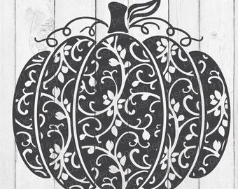 Pumpkin SVG - Swirly Pumpkin SVG - Pumpkin SVG File - Halloween Svg - Swirly Pumpkin - Fall Svg - Pumpkin Clipart - Swirl Pumpkin
