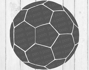 Soccer Ball SVG -  Soccer Ball DXF - Soccer Ball Clipart - Soccer Ball Cricut and Silhouette Cut Files - Soccer SVG - Soccer - Digital Svg