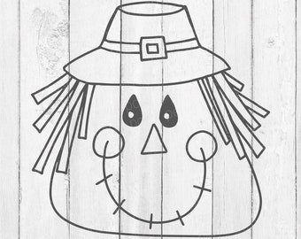 Scarecrow - Scarecrow Face Svg - Scarecrow Svg - Scarecrow Decor - Scarecrow Face - Scarecrow Png - Fall Apparel - Fall Home Decor - SVG