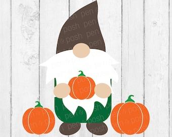 Pumpkin Gnome SVG - Fall Gnome SVG - Fall Gnome - Fall SVG - Pumpkin Svg - Holiday Gnome svg - Gnome Svg For Cricut - Digital Download - Svg