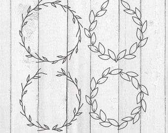 Magnolia Wreath Svg - Wreath Svg - Wreath Clip Art - Digital Download - Country Wreath Svg - Magnolia Flower Clipart For Silhouette Cricut