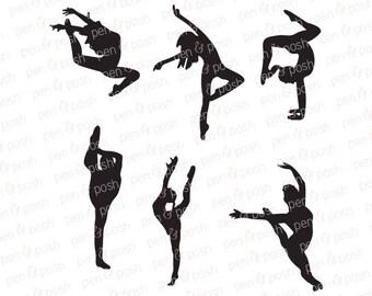 Dance SVG - Dance SVG Files - Dancer SVG - Dancer Cut File Bundle - Dance Cut file for Cricut and Silhouette - Dance Clipart