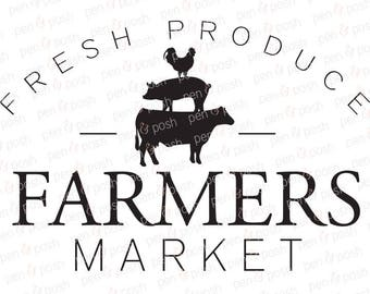 Farmers Market SVG - Farmers Market Sign File - Farmhouse Kitchen SVG - Kitchen SVG - Farmers Market Clipart - Country Kitchen Svg File