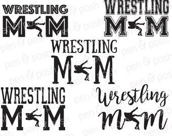 Wrestling Mom SVG - Wrestling  Wrestling Mom Clipart - Wrestling Mom TShirt - Wrestle Wrestling Mom Cut File Bundle