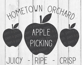 Apple Picking SVG - Orchard Picking SVG- Fall Apple SVG - Apple Svg- Apple Clip Art - Apple Picking Vector- Svg Pick Your Own - Apple Vector