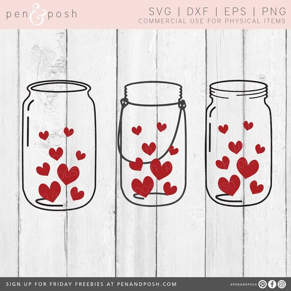 Free Choose from 10+ mason jar graphic resources and download in the form of png, eps, ai or psd. Valentines Day Svg Heart Svg Mason Jar Hearts Jar Svg Etsy SVG, PNG, EPS, DXF File