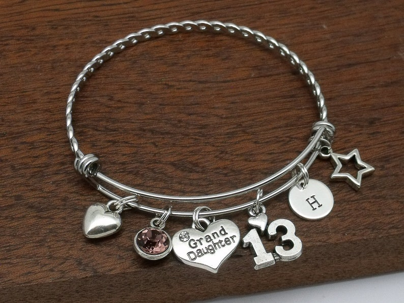 13th Birthday Bracelet For Granddaughter Age 13 Jewellery