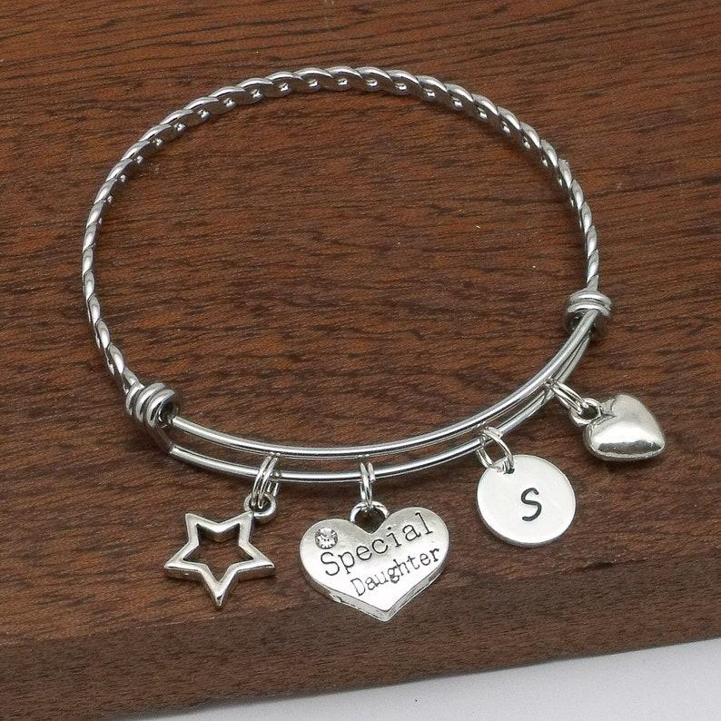 customised jewellery daughter jewellery daughter initial jewellery daughter bracelet personalised daughter gift Special daughter gift