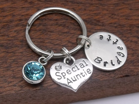 Special auntie name keyring gift auntie keychain  52371c09e3a8