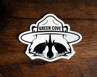 Raccoon Mascot Sticker - 3 x 4 inch