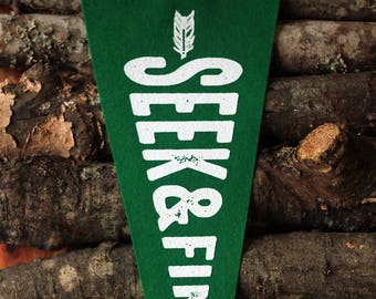 Seek & Find Wool Pennant