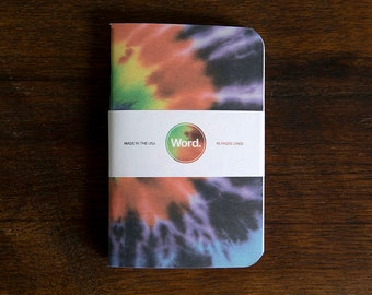 WORD - Tie Dye Notebook - 3 Pack Bundle