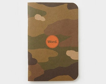WORD - Traditional Camo Notebook - 3 Pack Bundle