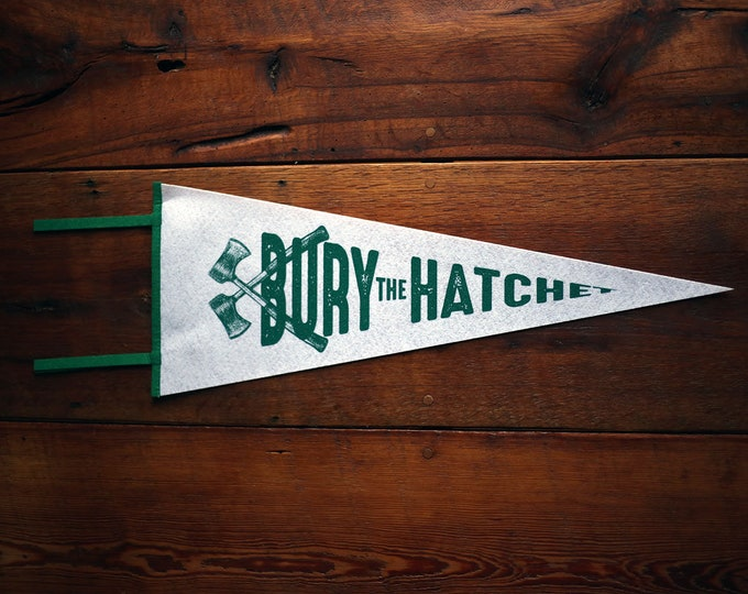 Featured listing image: Bury The Hatchet Wool Pennant