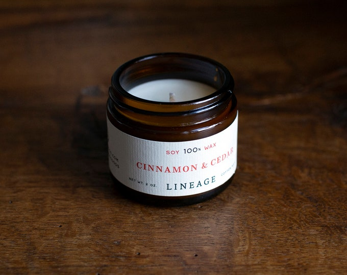 Featured listing image: Lineage 2 oz. Candle - Cinnamon & Cedar