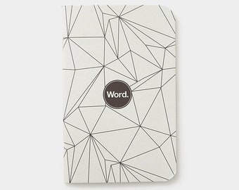 WORD - Grey Polygon Notebook - 3 Pack Bundle