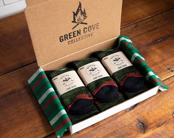 Camp Sock Gift Box Set - Olive