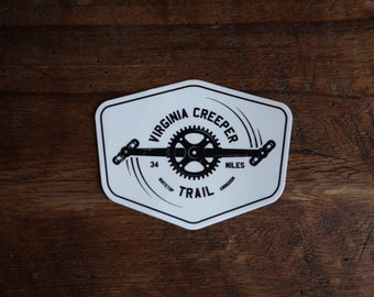 Virginia Creeper Trail Sticker - 3 x 4