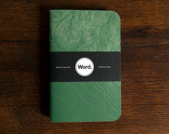 WORD - Green Terrain Notebook - 3 Pack Bundle