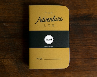 WORD - Adventure Log Notebook in Yellow - 3 Pack Bundle