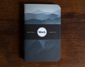 WORD - Blue Mountain Notebook - 3 Pack Bundle