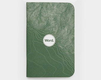 WORD - Green Terrain Notebook - 3 Pack Bundle