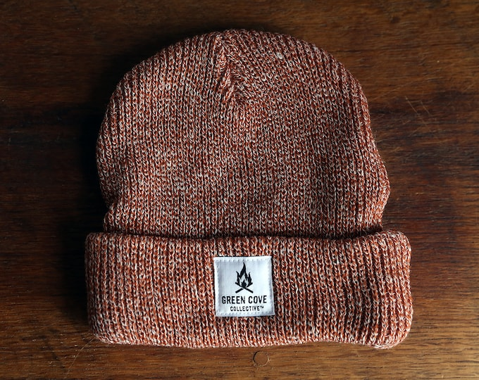 Featured listing image: Camp Fire Beanie - Salmon
