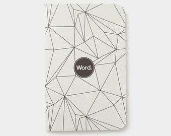 WORD - Grey Polygon Notebook - 3 Pack Bundle
