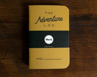 WORD - Adventure Log Notebook in Yellow - 3 Pack Bundle