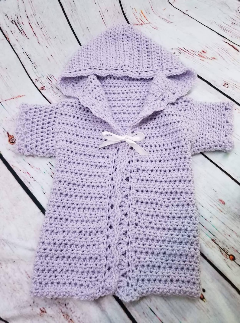 Infant Crochet Sweater Toddler Sweater Lavender Sweater Etsy