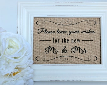 guest book table decor Please sign our Guestbook WEDDING sign BURLAP Wedding StandSign standing burlap and vintage look wood BURLAP