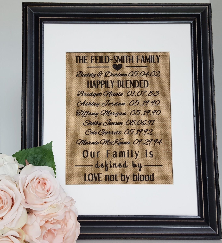 Wedding Gifts For Relatives: Blended Family Wedding Gift Blended Family Sign Stepmother
