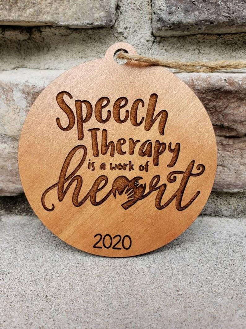 Speech Therapy Ornament Speech Therapist or Teacher 2021 Ornament Gift