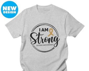 I Am Strong Short-Sleeve Unisex T-Shirt Childhood Cancer Awareness