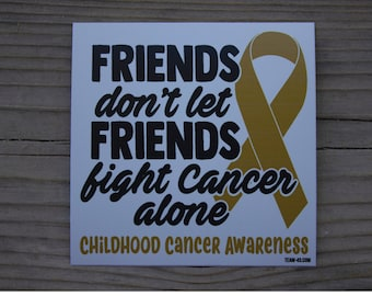 Childhood Cancer Awareness Decal FREE SHIPPING