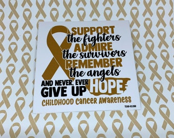 Childhood Cancer Awareness Sticker