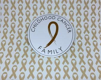 Childhood Cancer Family Sticker