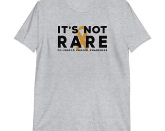 It's Not Rare Gold Ribbon Short-Sleeve Unisex T-Shirt